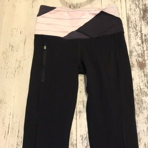 Lululemon straight fit yoga pants with control top